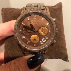 Bronze Michael Kors watch